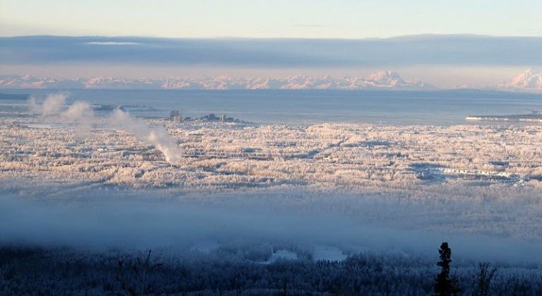 Anchorage, winter.