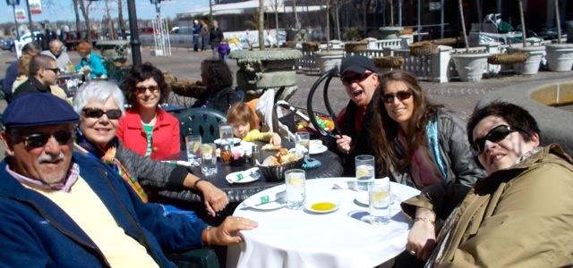 Actually warm enough to dine al fresco at Venda's plaza cafe.