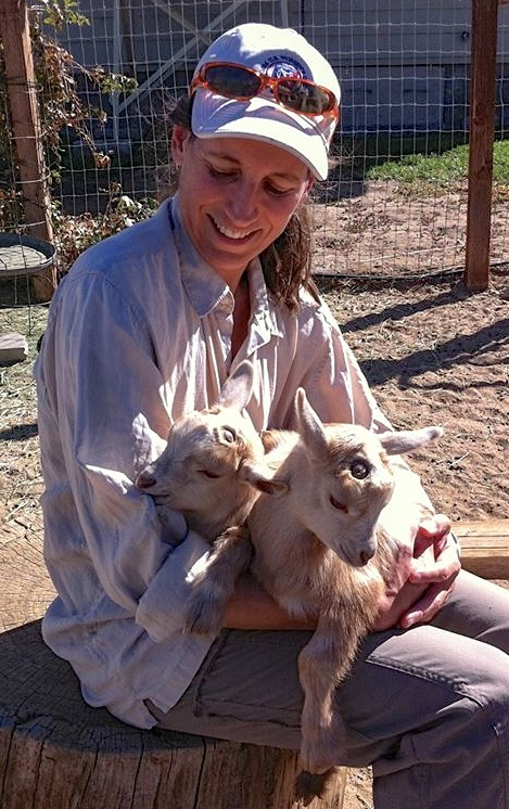 Visiting snuggly little baby goats at Dori + Martin's Seismic Farms, in Big Pine.