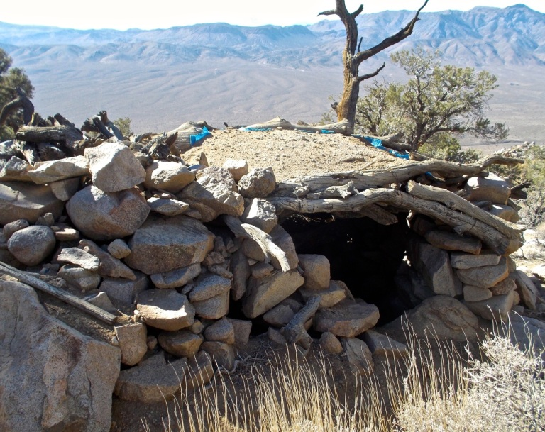 Elaborate (relatively speaking) stone shelter on the ridge leading to Galena Peak.