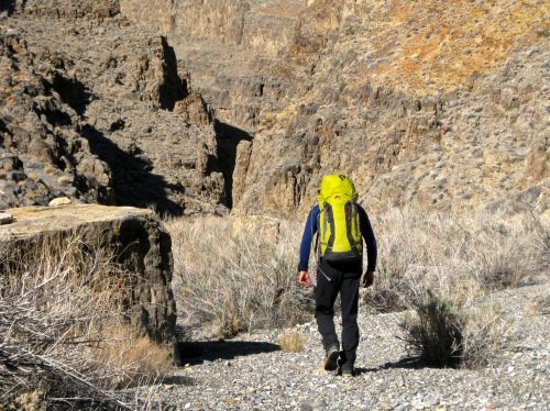 Getting close to the narrowest sections of upper Dry Bone Canyon.