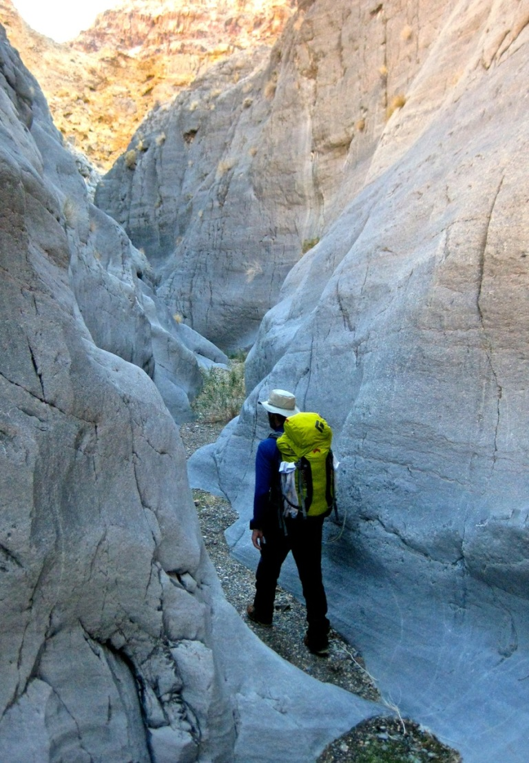 There were several short sections of really narrow narrows of polished limestone.