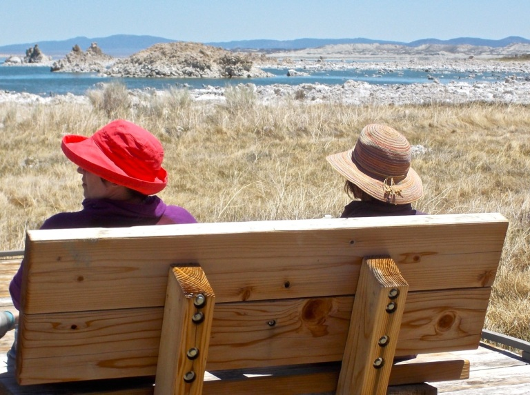 Bench-with-a-view, Mono Lake.
