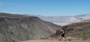 Hijinks at Father Crowley Point, overlooking Panamint Valley.