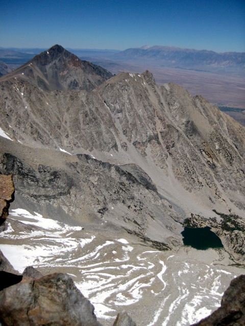 View northeast from the summit toward the backside of Mt. Tom.
