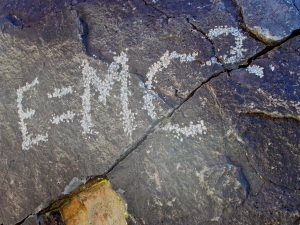 Atomic age petroglyph. Since it's now more than 50 years old, it's generally considered historic.