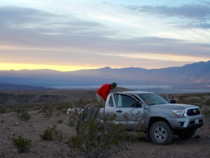 Dawn comes to Saline Valley and the mighty Inyos.