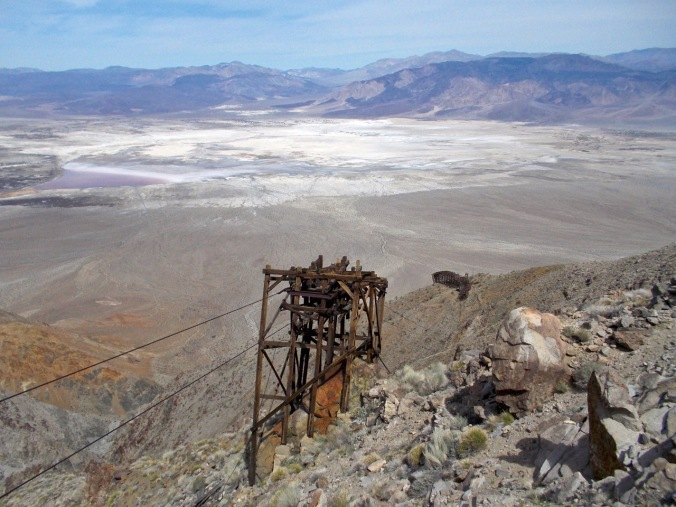 The next station above the #5 control station. Anyone in for an historic, exciting zip-line adventure on vintage, unmaintained mining detritus far from any professional medical assistance? Fred and Laura, maybe some bone-broth stations at the top or bottom?