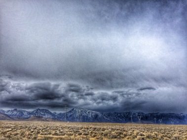 Storm clouds over Mt. Tom and other local peaks, early December.